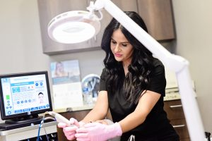 Getting Hydrafacial at Belle Ame in Oklahoma City
